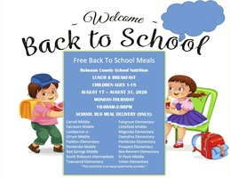 The Public Schools of Robeson County Back to School Child Nutrition Meal Information