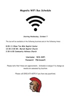 Magnolia Elementary WiFi Bus Schedules