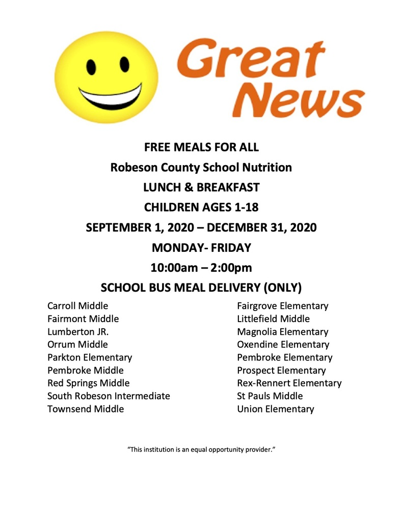 PSRC School Nutrition Program Extension of Meals for All Children!
